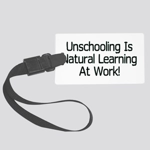 Unschooling Large Luggage Tag