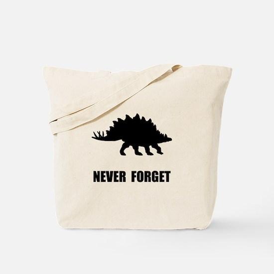 Never Forget Dinosaur Tote Bag