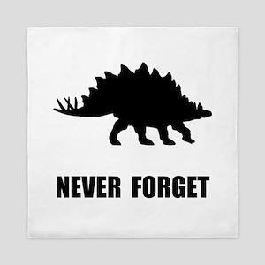 Never Forget Dinosaur Queen Duvet