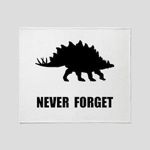 Never Forget Dinosaur Throw Blanket