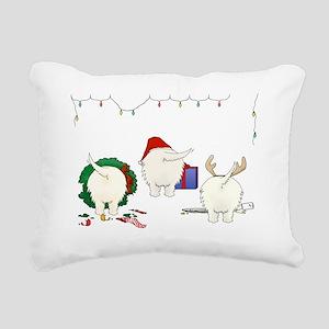 Westie Christmas Rectangular Canvas Pillow
