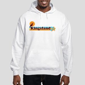 Kingsland GA - Beach Design. Hooded Sweatshirt