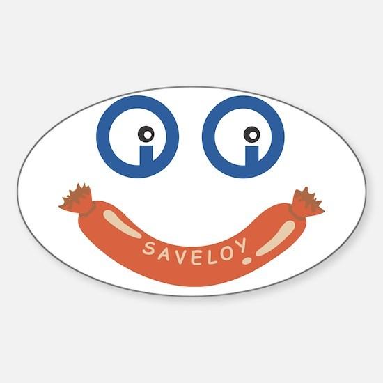 Oi Oi Saveloy ! Sticker (Oval)