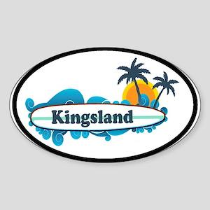 Kingsland GA - Surf Design. Sticker (Oval)