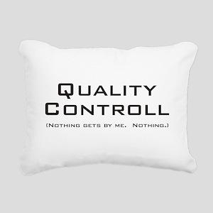Q Controll Rectangular Canvas Pillow