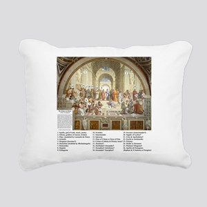 School of Athens Who's Who Rectangular Canvas Pill