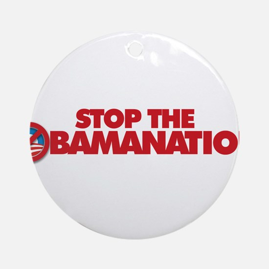 Stop the Obamanation Ornament (Round)