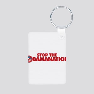 Stop the Obamanation Aluminum Photo Keychain