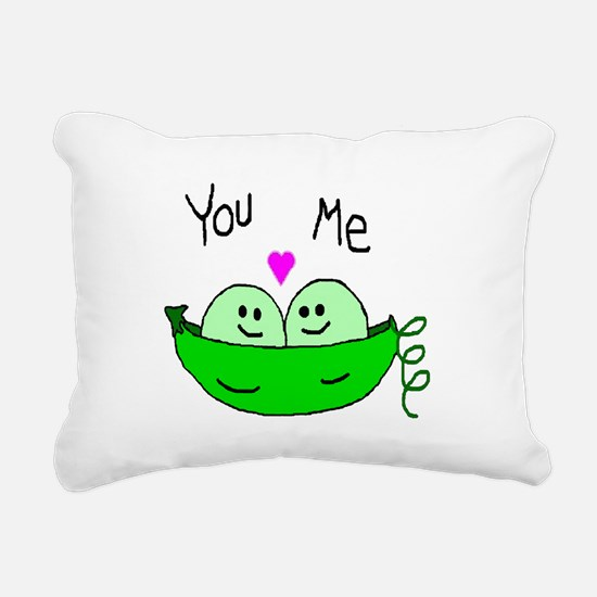 Funny I love you mom Rectangular Canvas Pillow