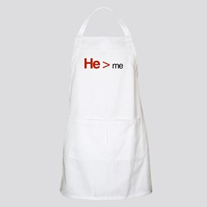 He is greater than me Apron