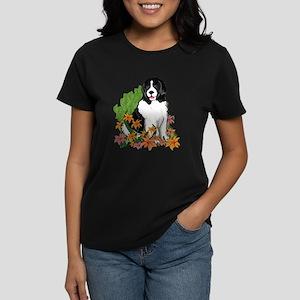 Landseer In The Garden Women's Dark T-Shirt