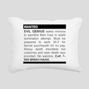 Evil Genius Personal Ad Rectangular Canvas Pillow