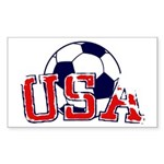 USA Soccer Sticker (Rectangle 50 pk)
