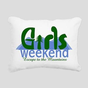 Mountain Girls Weekend Rectangular Canvas Pillow