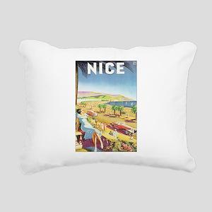 Nice France Rectangular Canvas Pillow