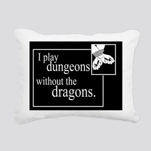 Dungeons Without Dragons Rectangular Canvas Pillow