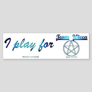 """""""Team Wicca"""" Bumper Sticker"""