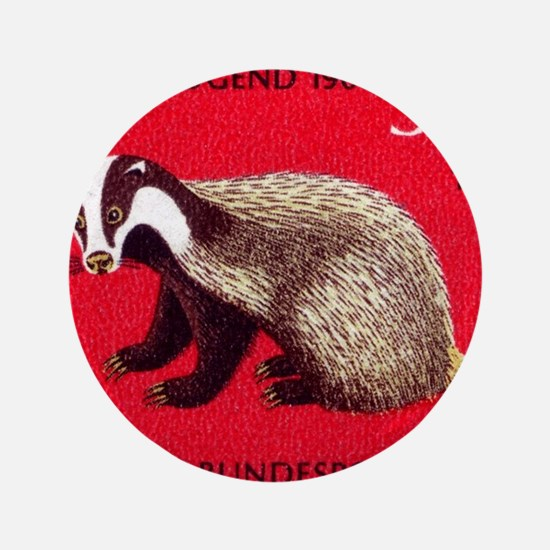 "Badger 1968 German Postage Stamp 3.5"" Button (100"