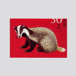 Badger 1968 German Postage Stamp Rectangle Magnet