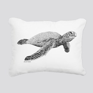 Green Sea Turtle Rectangular Canvas Pillow
