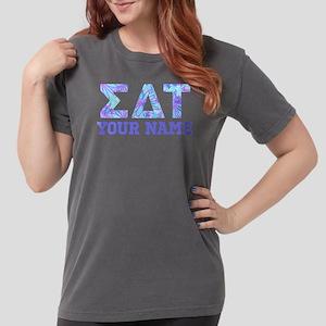 Sigma Delta Tau Blue P Womens Comfort Colors Shirt