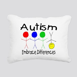 Autism, Embrace Differences Rectangular Canvas Pil
