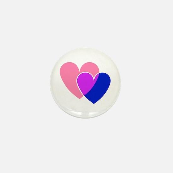 bi hearts Mini Button