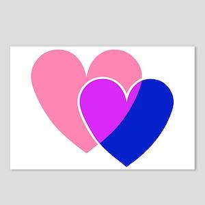 bi hearts Postcards (Package of 8)