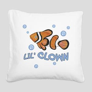 Lil Clown - Fish Square Canvas Pillow