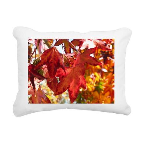Autumn Leaves Rectangular Canvas Pillow