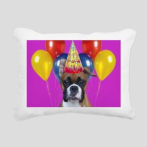 Happy Birthday boxer Rectangular Canvas Pillow
