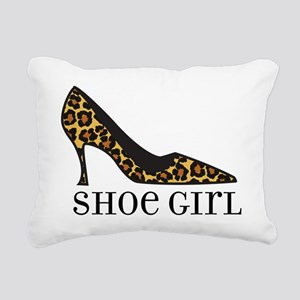 shoe girl Rectangular Canvas Pillow