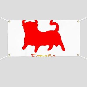 Red Spanish Bull Banner