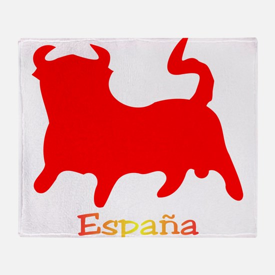 Red Spanish Bull Throw Blanket