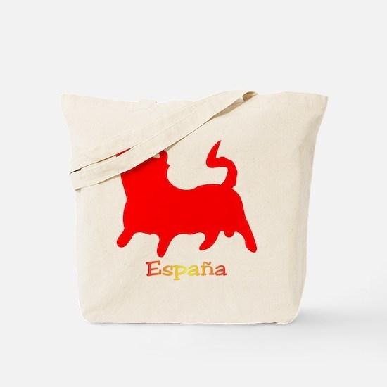 Red Spanish Bull Tote Bag
