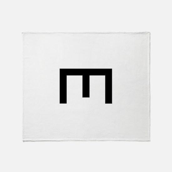Engineer Symbol Throw Blanket
