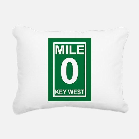 Mile Zero Key West Rectangular Canvas Pillow