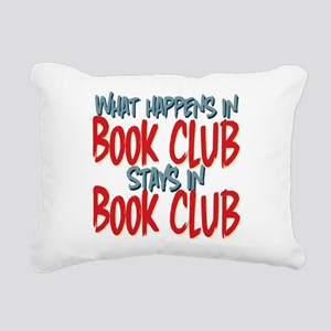 What Happens In Book Club Rectangular Canvas Pillo