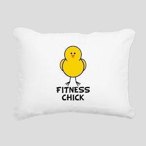 Fitness Chick Rectangular Canvas Pillow