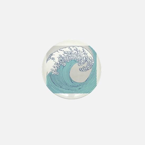 Ocean wave Mini Button