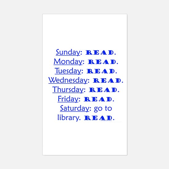 weekly schedule Rectangle Decal