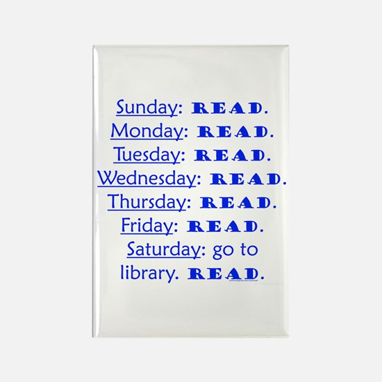 weekly schedule Rectangle Magnet