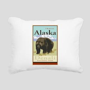 Travel Alaska Rectangular Canvas Pillow
