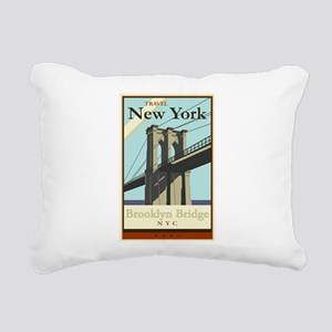 Travel New York Rectangular Canvas Pillow