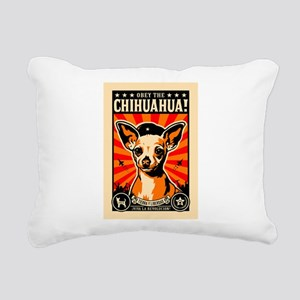 Chihuahua Revolution - Rectangular Canvas Pillow
