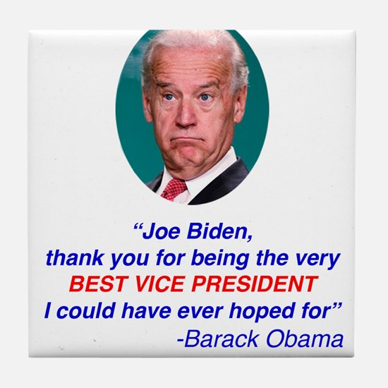 Joe Biden Best VP Collectible Tile Coaster