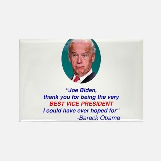 Joe Biden Best VP Collectible Rectangle Magnet