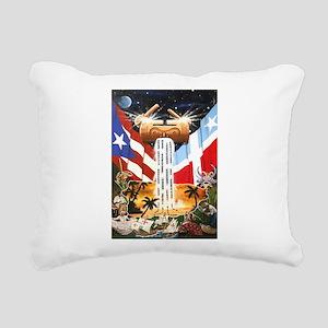 NEW!!! PUERTO RICAN PRIDE Rectangular Canvas Pillo