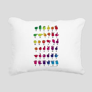 RBW Fingerspelled ABC Rectangular Canvas Pillow