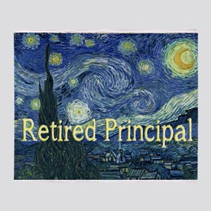 Retired Principal Van gogh blanket Stadium Bl